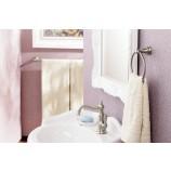 Moen S42107BN Weymouth Single Handle Bathroom Sink Faucet in Brushed Nickel