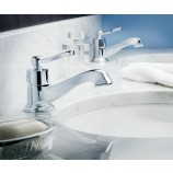 Moen S6202BN Rothbury Single Handle Centerset Bathroom Sink Faucet with Valve in Brushed Nickel