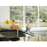 Moen S7170CSL 90 Degree Single Handle High Arc Kitchen Faucet in Classic Stainless