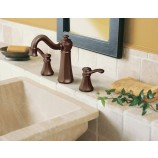 Moen T6305ORB Vestige Two Handle Widespread Bathroom Sink Faucet Trim in Oil Rubbed Bronze