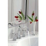 Moen TS42114 WeymouthTwo Handle Widespread Bathroom Sink Faucet Trim in Chrome