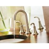 Moen TS6520BN Icon Two Handle Widespread Bathroom Sink Faucet Trim in Brushed Nickel
