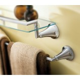 "Moen YB5824BN Icon 24"" Towel Bar in Brushed Nickel"