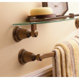 "Moen YB8224ORB Rothbury 24"" Towel Bar in Oil Rubbed Bronze"