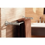 "Moen YB9522BN Bamboo 24"" Double Towel Bar in Brushed Nickel"