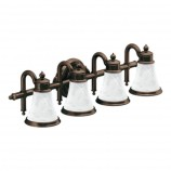 Moen YB9864ORB Waterhill Four Globe Light Bath Fixture in Oil Rubbed Bronze