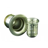 Opella 90125.98 Junior Basket Strainer in Satin Nickel