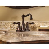 Price Pfister GT46-M0BU Marielle 3-Hole Double Handle Centerset and Mini-Widespread Lead Free Bathroom Faucet in Rustic Bronze