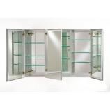"Afina TD4830RBRD-BV-T-D Triple Door Broadway Frameless Medicine Cabinet with a Beveled Edge (48"" x 30"")"