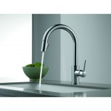 Delta 9159-AR-DST Trinsic Single Handle Pull-Down Kitchen Faucet with Diamond Seal Technology in Arctic Stainless